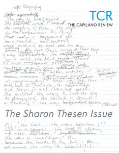 """Sharon Thesen, early manuscript for """"Biography,"""" Thesen Archive, Contemporary Literature Collection, Simon Fraser University"""