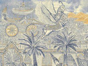 Hana Amani, Scheherazade's Dream (detail), 2019.