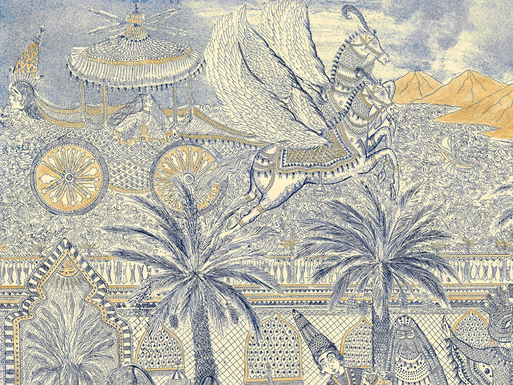 Hana Amani, Scheherazade's Dream (detail), 2019.