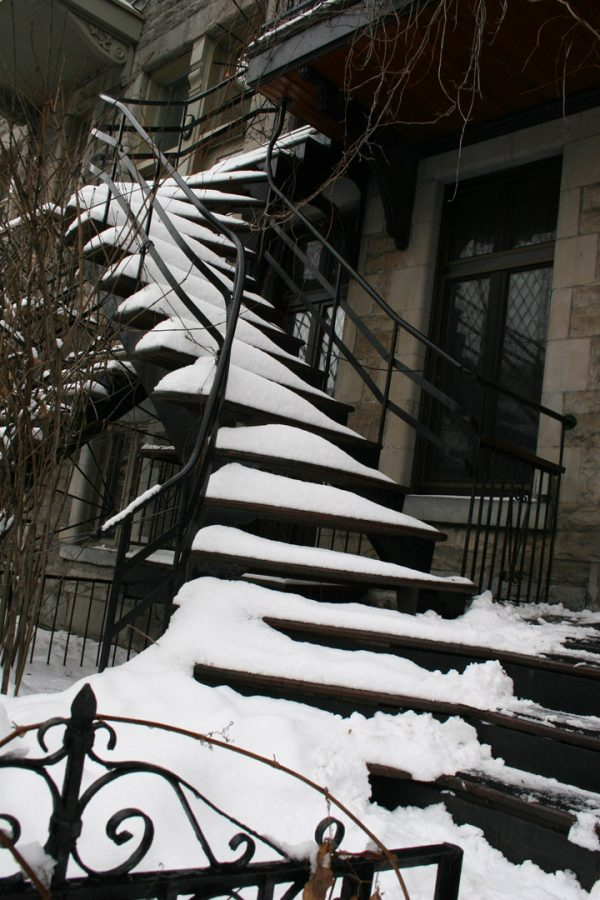 Montréal staircase, Photo by Yedda Morrison, Courtesy of Gail Scott