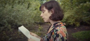 "Andrea Actis reading from ""Soul Ash,"" video still, 2020"