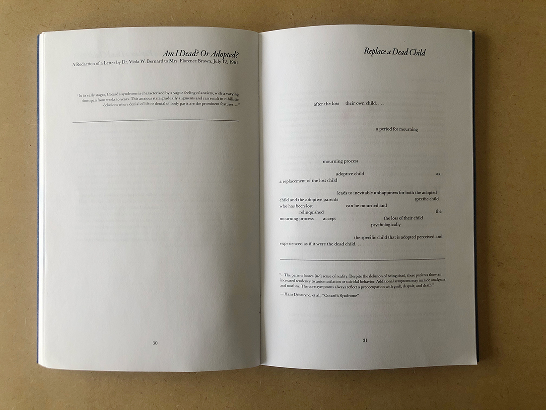 """Excerpt of pages 30-31 of """"granted to a foregin citizen"""" by Sun Yung Shin. Photo by Steffanie Ling."""